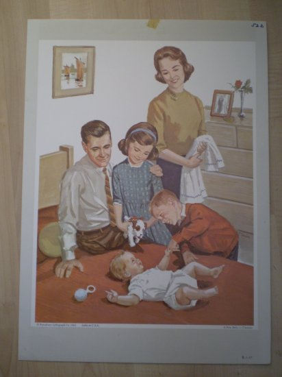 A New Baby Providence Lithograph Vintage Timmins print
