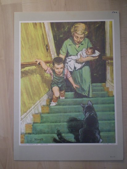 A New Baby Providence Lithograph 1965 Seward print