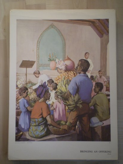 Bringing an Offering Providence Lithograph Vintage Ayer print