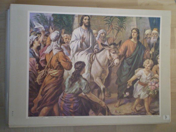 Coming to Jerusalem Providence Lithograph Vintage Plockhorst print