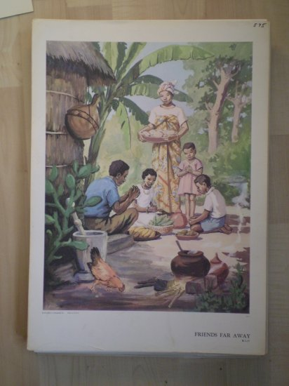 Friends Far Away Providence Lithograph Vintage Ayer Print