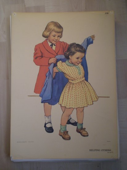 Helping Others Providence Lithograph Vintage Handsaker