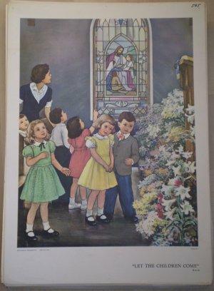 Let The Children Come Providence Lithograph Vintage Handsaker