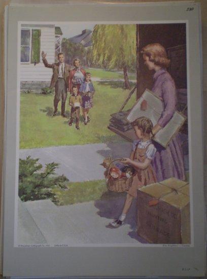 New Neighbors Providence Lithograph 1961 Timmins Print