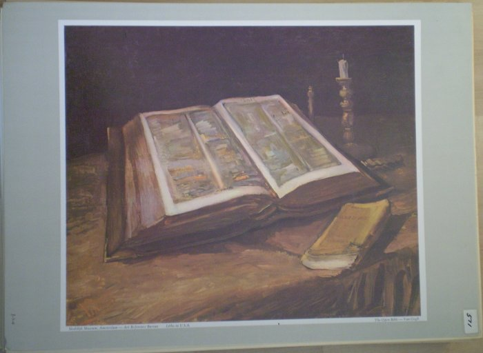 The Open Bible Van Gogh Stedelijk Museum Amsterdam Print Litho