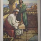 Paul Writes A Letter Providence Lithograph Parish Print Vintage