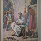 Peter in Prison Providence Lithograph Luhrs Print 1956