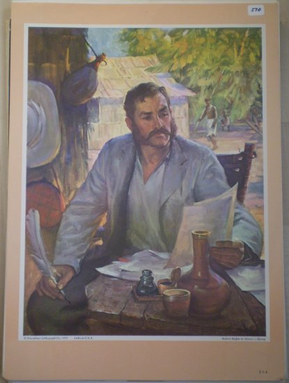 Robert Moffat in Africa Providence Lithograph 1959 Skemp Print