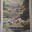 Seedtime Providence Lithograph 1960 Foxley print