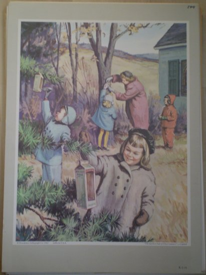 The Earth Is Full of Thy Creatures Providence Lithograph 1962 Caddell print