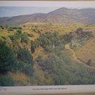 Jordan Valley Region Where Jesus Was Baptized Blender 1972 Litho