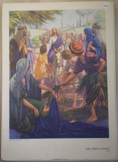 The King Comes Providence Lithograph Vintage Hall print