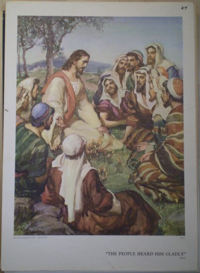The People Heard Him Gladly Providence Lithograph 1959 Godwin print