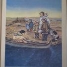 Thinking of Friends Far Away Providence Lithograph Vintage MacKnight print