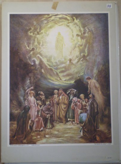 We Beheld His Glory Providence Lithograph Vintage Hole 1957