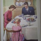 We Give Thanks To Thee Providence Lithograph Vintage Handsaker Print