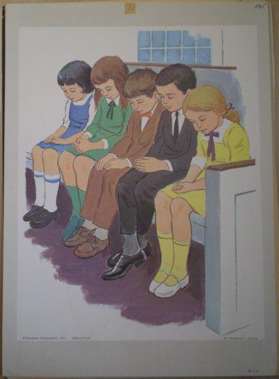 We Thank God Providence Lithograph 1965 Johnson print