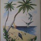 1965 DCC Publishing Co. Family Tropical Beach Vintage Litho Print