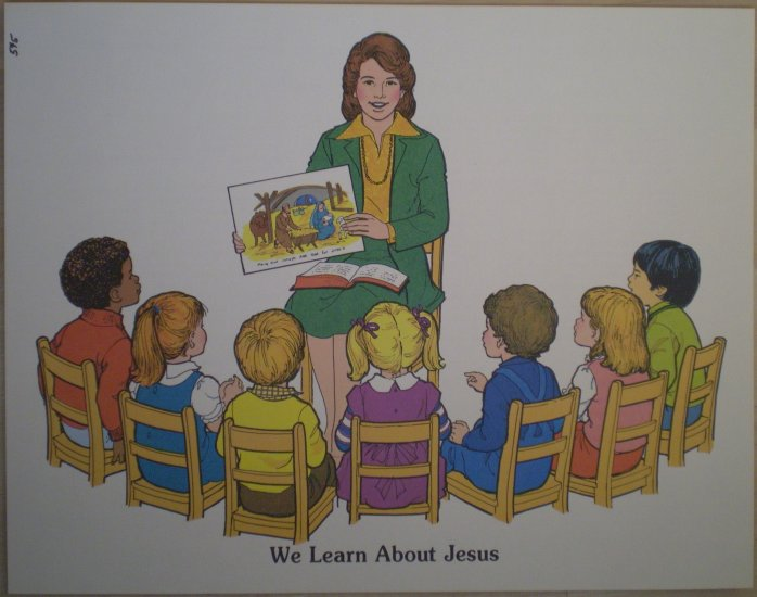 We Learn About Jesus Teaching Aid 5 1980 David C Cook Poster