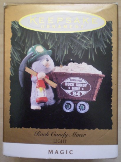 Hallmark Keepsake Rock Candy Miner Light Magic QLX740-3 1994