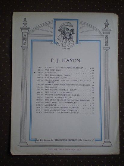 Alegretto  Haydn Sheet Music Theodore Presser #1884