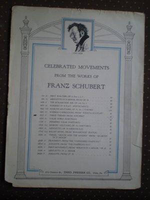 Three Themes Schubert Sheet Music Theodore Presser #8217