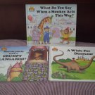 Magic Castle Readers Lot 3 Books Monkey Acts Dinosaur Grumpy Kangaroo