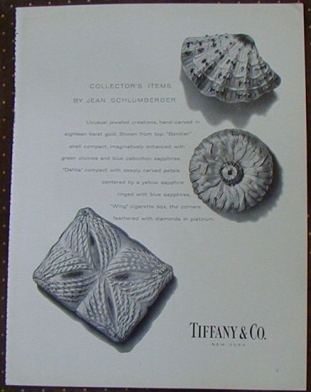 VINTAGE TIFFANY Jean Schlumberger Compact Cigarette Box AD 1960