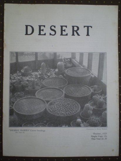 Desert Magazine October 1929 Vol I No. 6 Plants Cacti Flora
