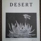 Desert Magazine March 1930 Vol I No. 11 Plants Cacti Flora