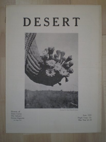 Desert Magazine June 1929 Vol I No. 2 Plants Cacti Flora