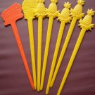 Vintage Swizzle Sticks Continental Airlines Pineapple Tram Hollywood