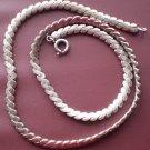 """Vintage Sterling Silver Necklace 16""""Choker Link"""