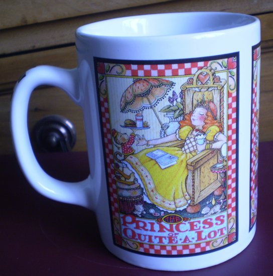Mary Engelbreit Mug Princess of Quite A Lot Coffee Cup Oz