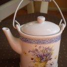 Hallmark Nature's Sketchbook Teapot Candle Miniature Marjolein Bastin