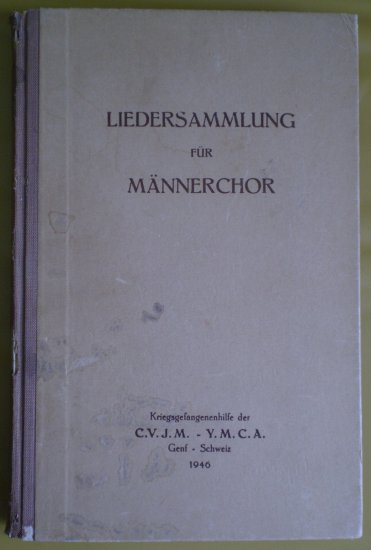 Liedersammlung Fur Mannerchor 1946 German Book CVJM-YMCA