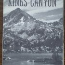 Sequoia Kings Canyon National Parks Brochure Pamphlet Vintage