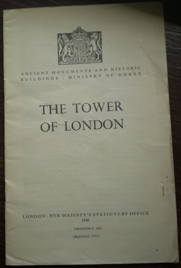 Tower of London Brochure 1955 Her Majesty's Stationery Office