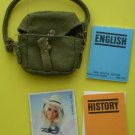 Book Bag and Textbooks for Barbie Doll History English