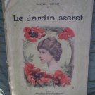 Marcel Prevost Le Jardin Secret Edition Illustree Modern Bibliotheque Vintage