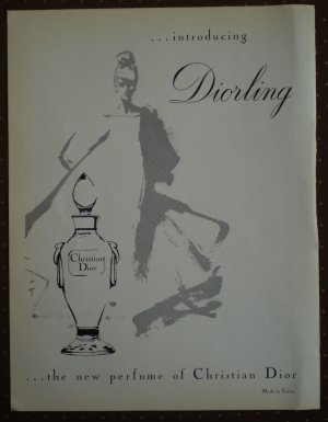 Diorling Christian Dior Vintage Ad 1964 Perfume CD Gruau