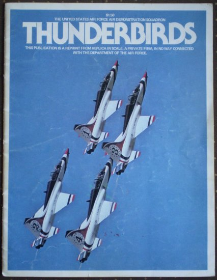USAF Thunderbirds 1976 Reprint in Scale January Military Aviation