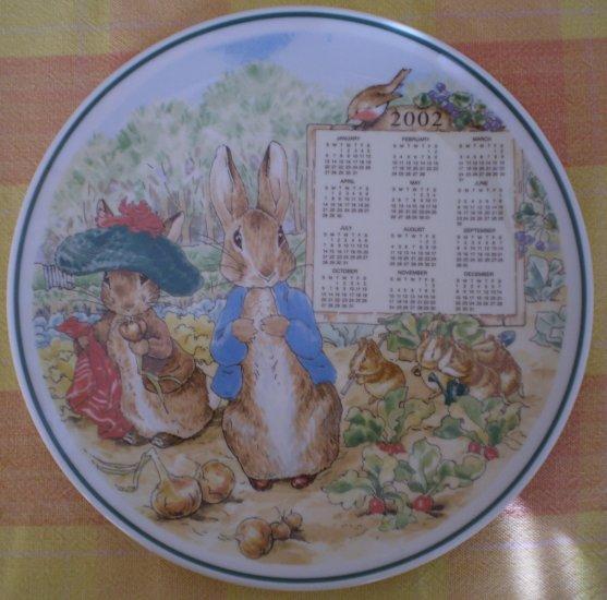 Wedgwood Peter Rabbit 2002 Calendar Plate Warne England