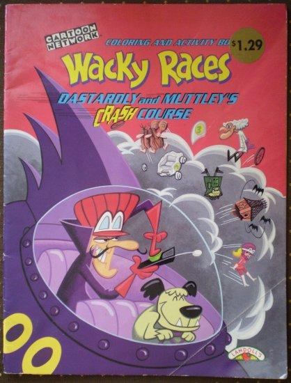 Wacky Races Coloring Activity Book Dastardly Muttley Crash Course 1998