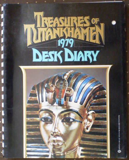 Treasures of Tutankhamen 1979 Desk Diary Ballantine Books