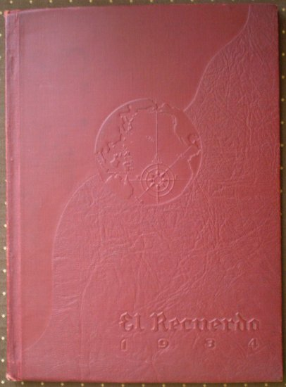 El Recuerdo Yearbook 1934 Huntington Park High School California