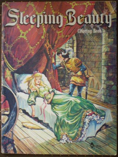 Sleeping Beauty Coloring Book Playmore 2934 Viintage