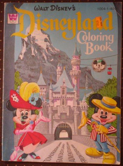 Walt Disney Disneyland Coloring Book Whitman 1004 1 49 1969