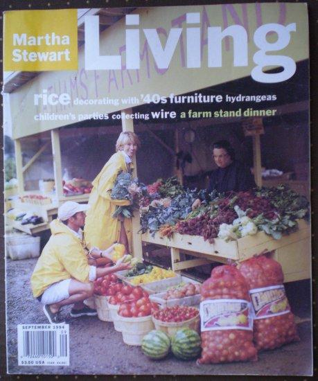 Martha Stewart Living Magazine 22 September 1994