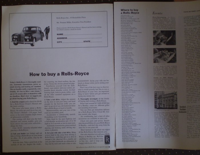 Vintage Ad How to Buy A Rolls Royce Where 1964
